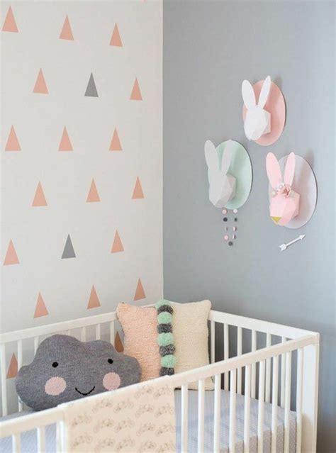 Kinderzimmer Wandgestaltung by Kuschelkissen Design Kinderzimmer Tapete Dreiecke Muster