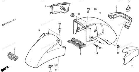 Honda Motorcycle Oem Parts Diagram For Front Fender