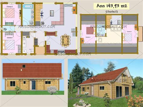 chalet 4 chambres plans gratuits de maisons individuelles en bois