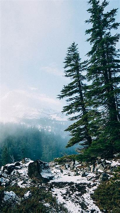 Iphone Nature Wallpapers Background Backgrounds Mountain Purple
