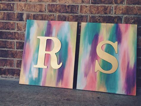 gold spray painted wooden letters  abstract canvases abstract painting diy canvas painting