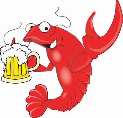 Shrimp Clipart Cartoon Clip Crawfish Library Cliparts