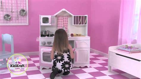 cuisine kidkraft vintage blanche cuisine pour enfant country blanche et en bois