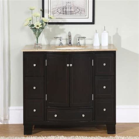 bathroom vanities free shipping shop silkroad exclusive 40 inch single sink cabinet