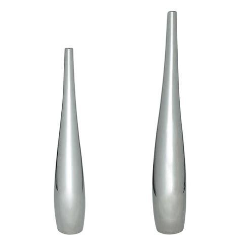 canapé forme u 2 vases en céramique argent h 83 cm et h 115 cm marley