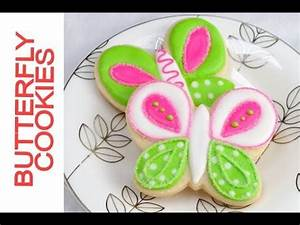 Pretty Lime Green and Hot Pink Butterly Cookies Tutorial