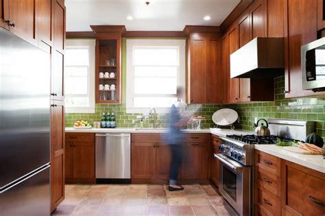 Dark Green Subway Tile Kitchen Backsplash  Home Design