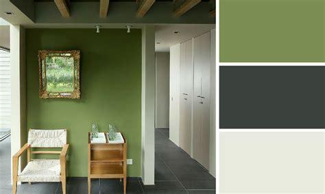 peinture chambre vert et gris quelles couleurs se marient avec le vert