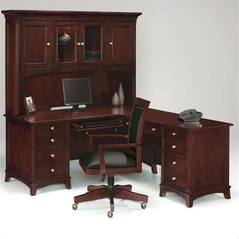 solid wood computer desk l shaped wood desk with hutch whitevan