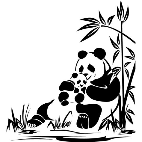 stickers panda pas cher cameo panda silhouettes and stenciling