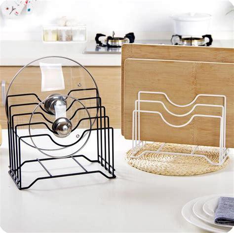 storage racks for kitchen kitchen accessories iron pot lid organizer multi layer 5882
