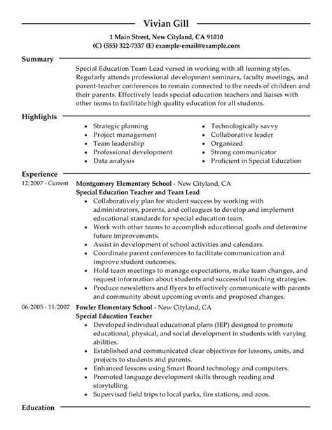 team lead resume  livecareer