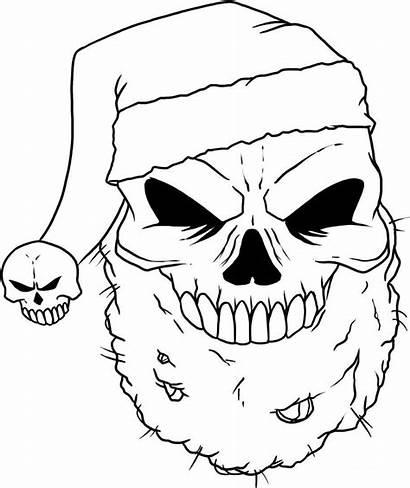 Coloring Pages Skeleton Head Skull Printable Adult