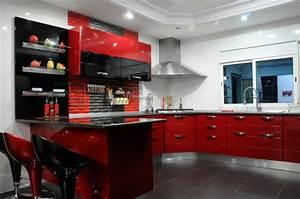 Meuble Cuisine Rouge Laqué : royale cuisine ~ Teatrodelosmanantiales.com Idées de Décoration