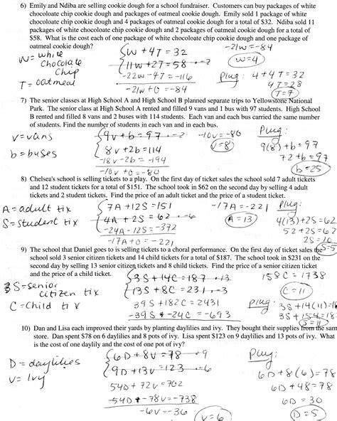 algebra word problems worksheet and answers algebra 2 word problems linear equations homeshealth info
