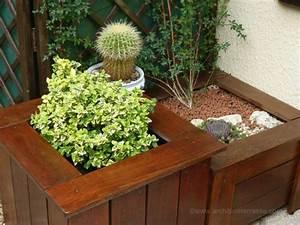 Fleur En Bois : jardini re et bac de terrasse bois d coupe autour des ~ Dallasstarsshop.com Idées de Décoration