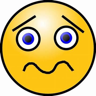 Face Clipart Quizzical Shocked Sad Clip Quizical