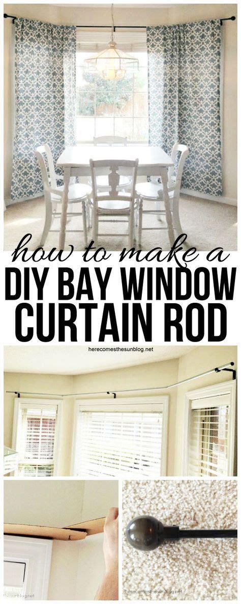 blockaide curtain rod bay window 17 best ideas about bay window curtains on bay