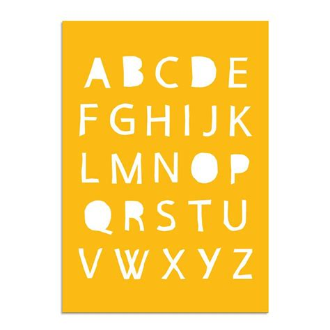 abc poster alfabet kinderkamer poster babykamer