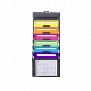 smead 92060 gray cascading wall organizer 6 pockets With smead cascading wall organizer 6 pockets letter size