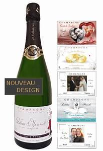 Etiquette Champagne Mariage : etiquette personnalis e pour bouteille de champagne pour mariage ~ Teatrodelosmanantiales.com Idées de Décoration