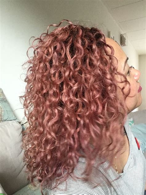 rose gold curly hair hizihair hair   colored