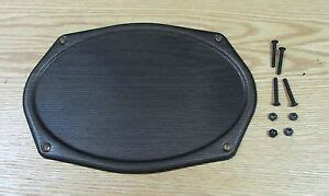 chevy rear seat speaker metal grille black finish  hardware