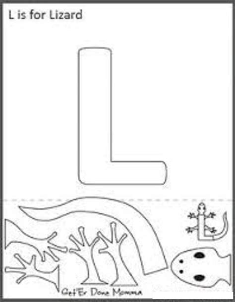 letter l crafts preschool and kindergarten 179 | lizard template for letter l crafts