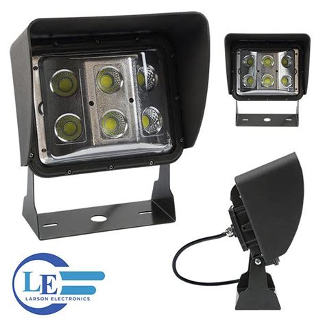led wall pack light features glare shield retrofit