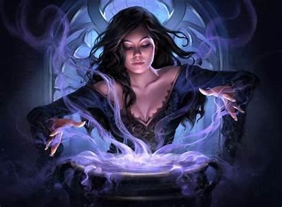 Witch Fantasy Dark Magic Wallpapers Artstation Lynette
