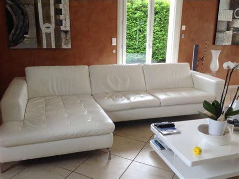 magnifique canape d angle en cuir blanc natuzzi rh 244 ne