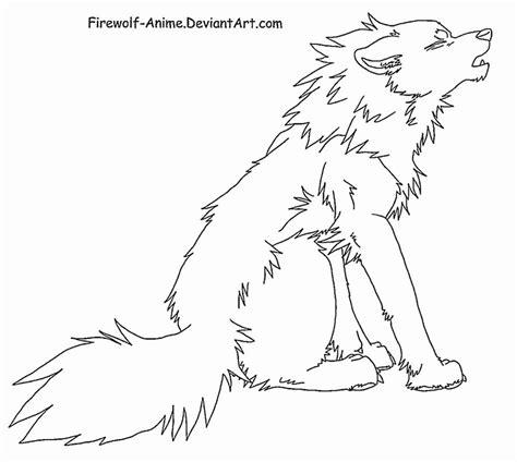 howling wolf  art  firewolf anime  deviantart