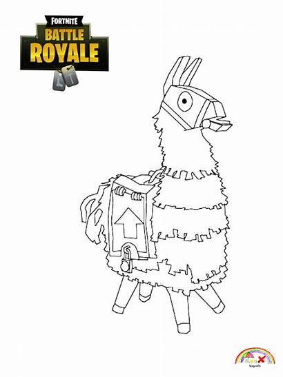 Fortnite Coloring Llama Skin Character Printable Games