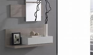Miroir D Entrée : meuble d 39 entr e avec miroir contemporain ingres ~ Teatrodelosmanantiales.com Idées de Décoration