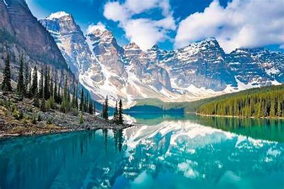 Scenery Spectacular Famous Mountains Canada