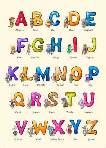 elena schweitzer english abc  children poster