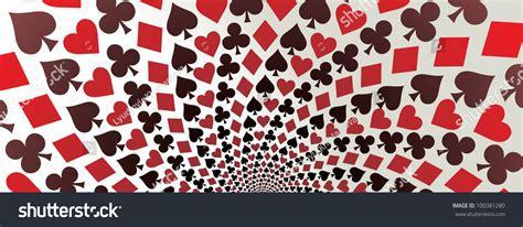 card suit hearts diamonds spades clubs stock vector
