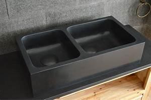 Evier Cuisine Granit : alifa shadow vier de cuisine sous plan en granit noir ~ Premium-room.com Idées de Décoration