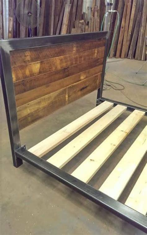Bed Frames And Headboards by Industrial Bed Frame Many Custom Designs Can Be Added