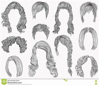 Curly Drawing Sketch Pencil Hairstyle Different Fringe