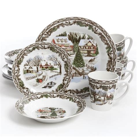 christmas sets dinnerware holiday rated