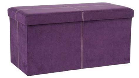 Purple Storage Ottoman by Microsuede Folding Storage Ottoman Bench Purple Furniture
