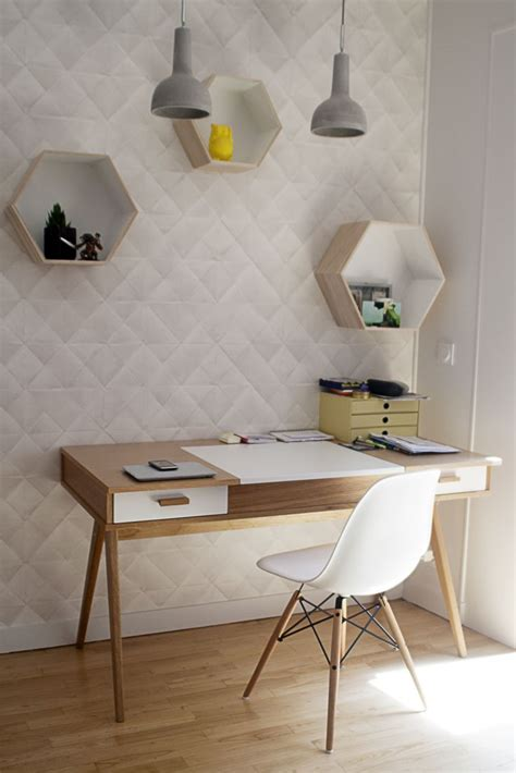 bureau vintage scandinave décoration d 39 un coin bureau à l 39 esprit scandinave dans une entrée décoration et photographie
