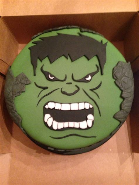 incredible hulk cake    cake design