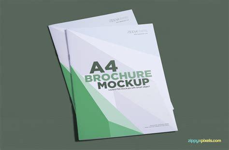 Brochure Mockup Template Free by Free A4 Brochure Mockup Zippypixels