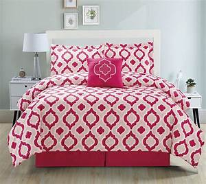 9, Piece, Moroccan, Pink, Bed, In, A, Bag, Set