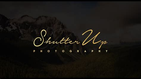 create  signature logo  photography youtube