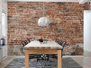 Papier Peint Brique Relief : le papier peint imitation brique donne de la personalit ~ Dailycaller-alerts.com Idées de Décoration