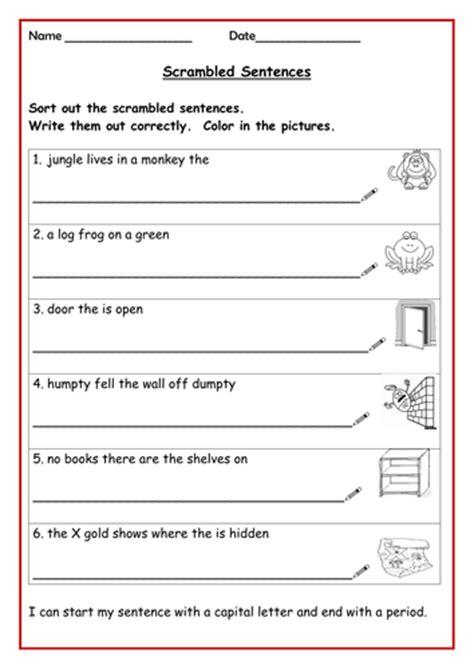 all worksheets 187 jumbled sentences worksheets for grade 1