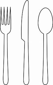 Fork clipart butter knife - Pencil and in color fork ...